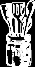 White utensils